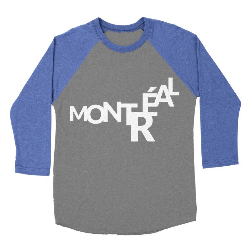 Montreal Island Logo Men's Baseball Triblend Longsleeve T-Shirt by Shirts by Hal Gatewood