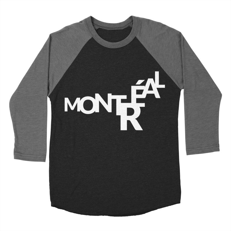 Montreal Island Logo Men's Baseball Triblend Longsleeve T-Shirt by Shirts by Hal Gatewood