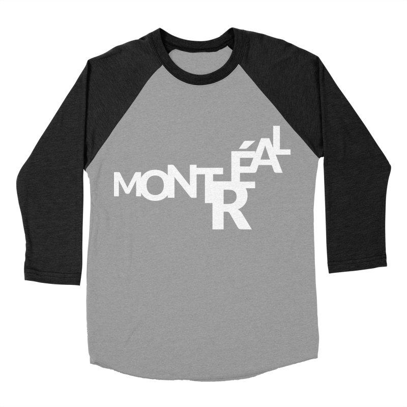 Montreal Island Logo Men's Baseball Triblend T-Shirt by Shirts by Hal Gatewood