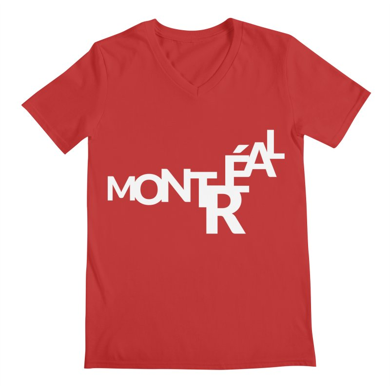 Montreal Island Logo Men's V-Neck by Shirts by Hal Gatewood
