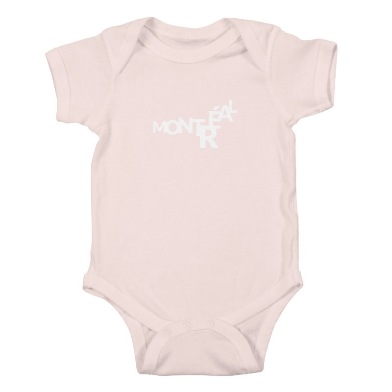 Montreal Island Logo Kids Baby Bodysuit by Shirts by Hal Gatewood