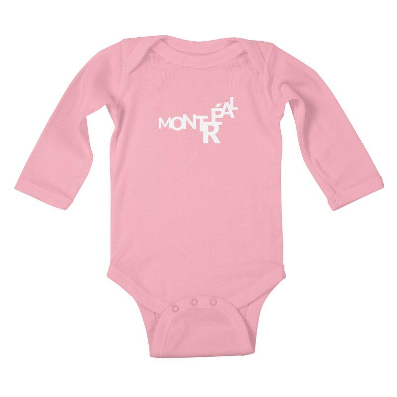Montreal Island Logo Kids Baby Longsleeve Bodysuit by Shirts by Hal Gatewood
