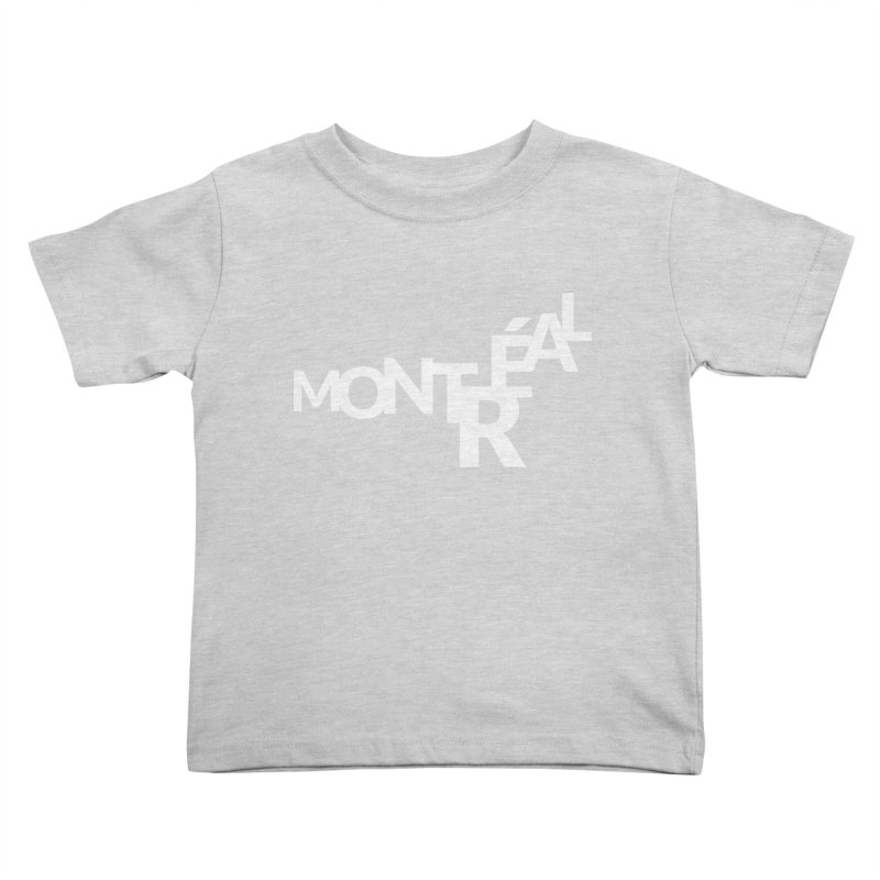 Montreal Island Logo Kids Toddler T-Shirt by Shirts by Hal Gatewood