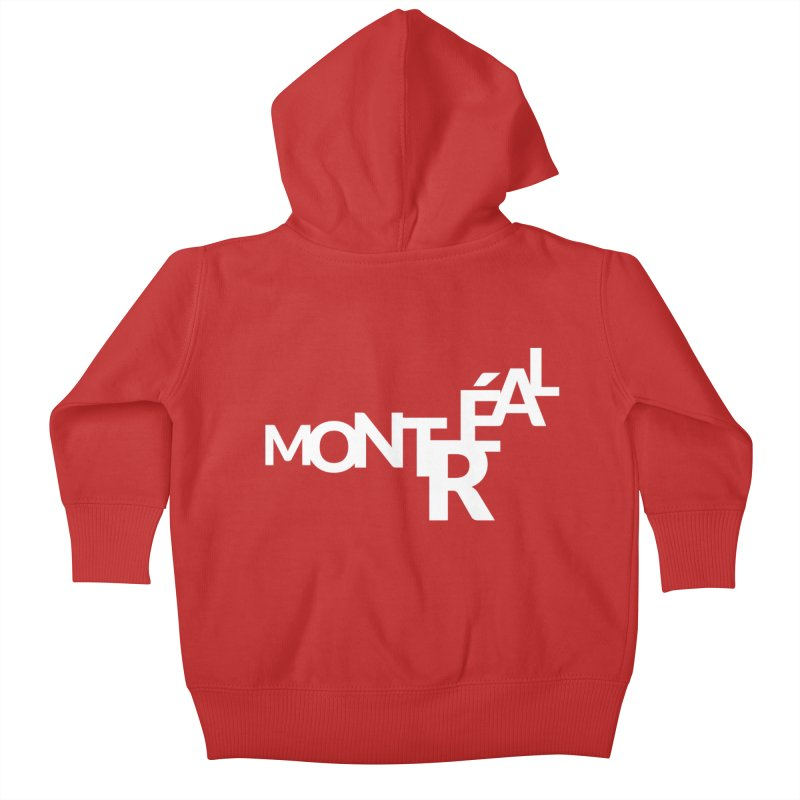 Montreal Island Logo Kids Baby Zip-Up Hoody by Shirts by Hal Gatewood
