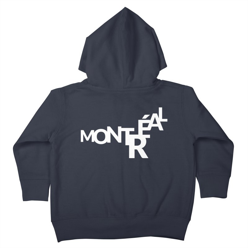 Montreal Island Logo Kids Toddler Zip-Up Hoody by Shirts by Hal Gatewood