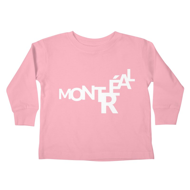 Montreal Island Logo Kids Toddler Longsleeve T-Shirt by Shirts by Hal Gatewood