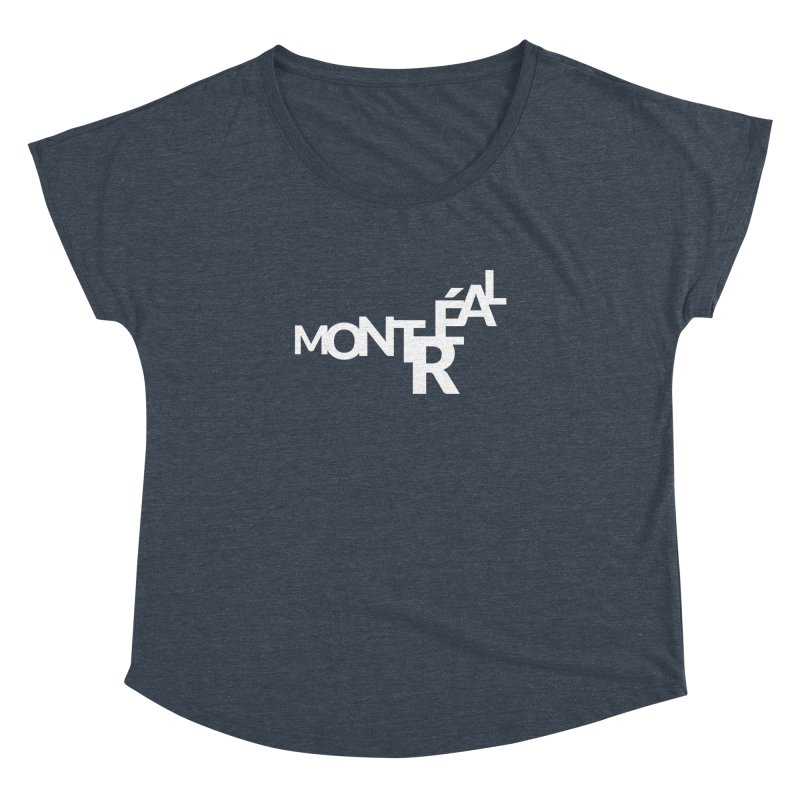 Montreal Island Logo Women's Dolman Scoop Neck by Shirts by Hal Gatewood
