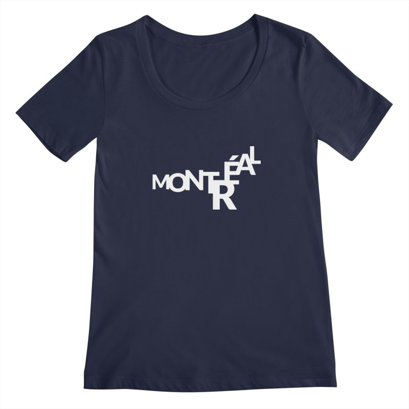 Montreal Island Logo Women's Regular Scoop Neck by Shirts by Hal Gatewood