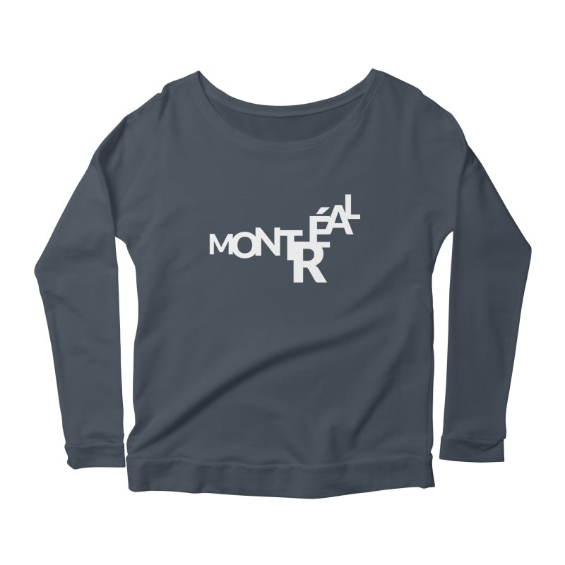 Montreal Island Logo Women's Longsleeve Scoopneck  by Shirts by Hal Gatewood