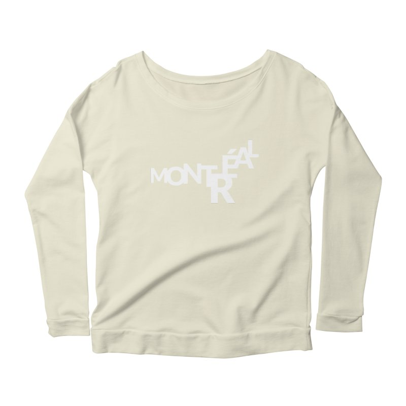 Montreal Island Logo Women's Scoop Neck Longsleeve T-Shirt by Shirts by Hal Gatewood