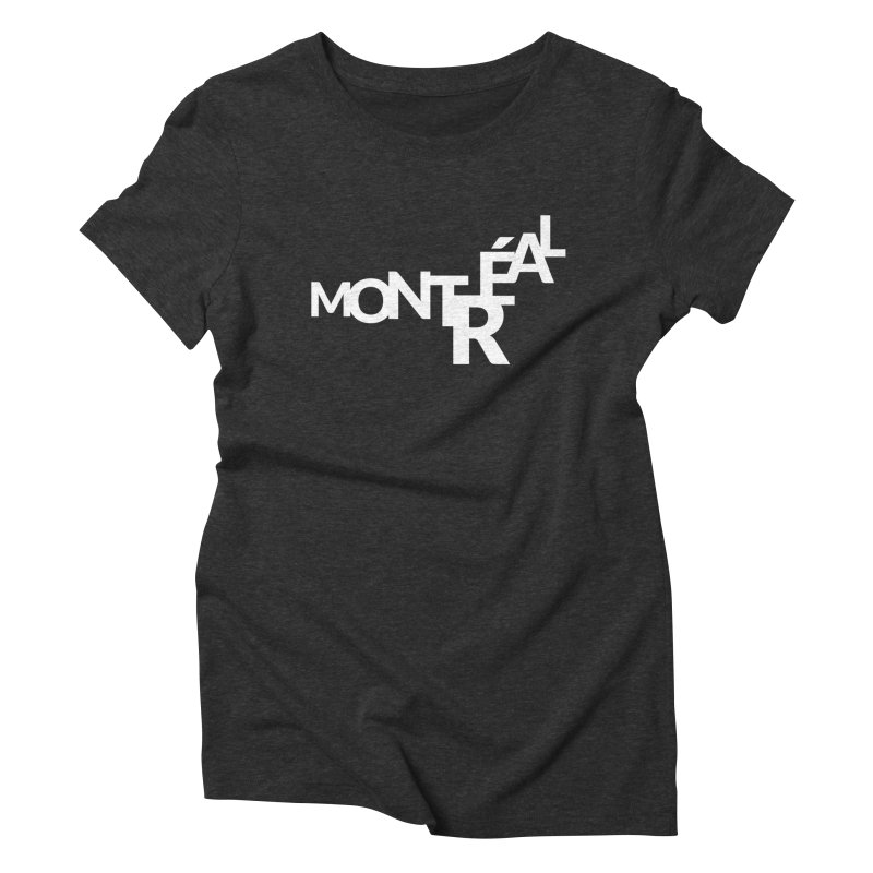Montreal Island Logo Women's Triblend T-Shirt by Shirts by Hal Gatewood
