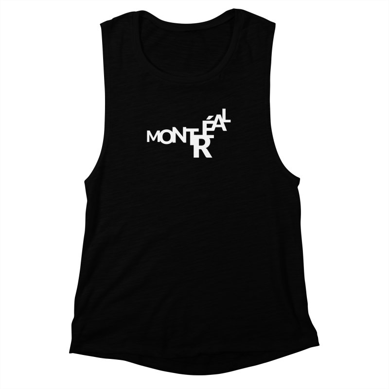 Montreal Island Logo Women's Muscle Tank by Shirts by Hal Gatewood