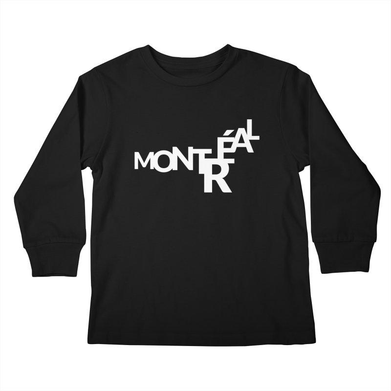 Montreal Island Logo Kids Longsleeve T-Shirt by Shirts by Hal Gatewood