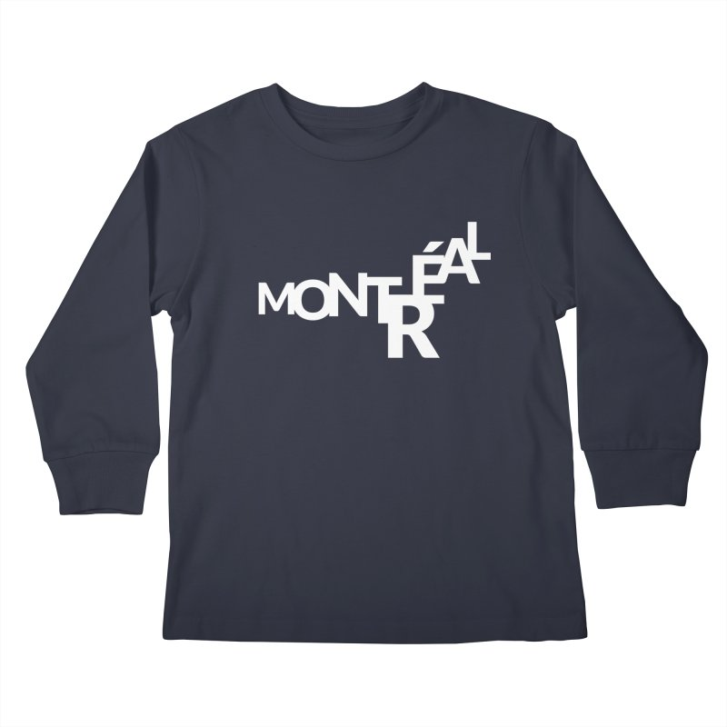Montreal Island Logo Kids Longsleeve T-Shirt by Shirts by Hal Gatewood