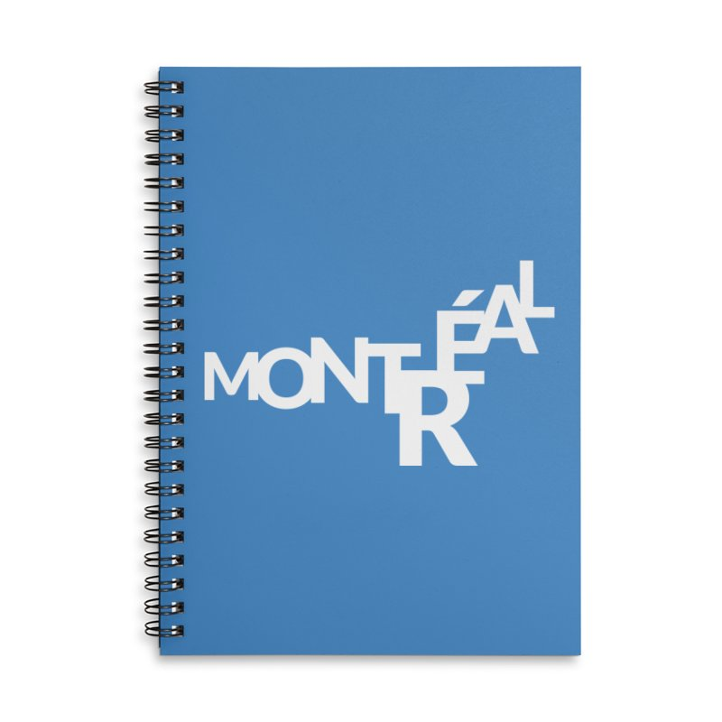 Montreal Island Logo Accessories Lined Spiral Notebook by Shirts by Hal Gatewood