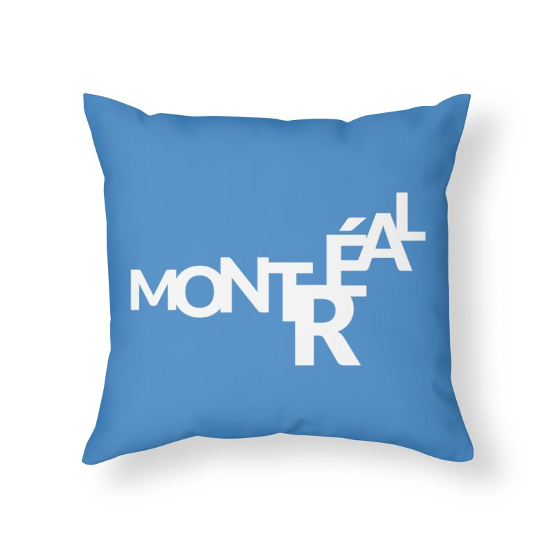 Montreal Island Logo Home Throw Pillow by Shirts by Hal Gatewood