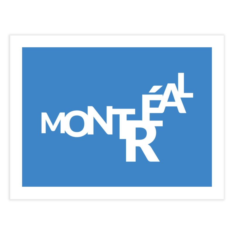 Montreal Island Logo Home Fine Art Print by Shirts by Hal Gatewood