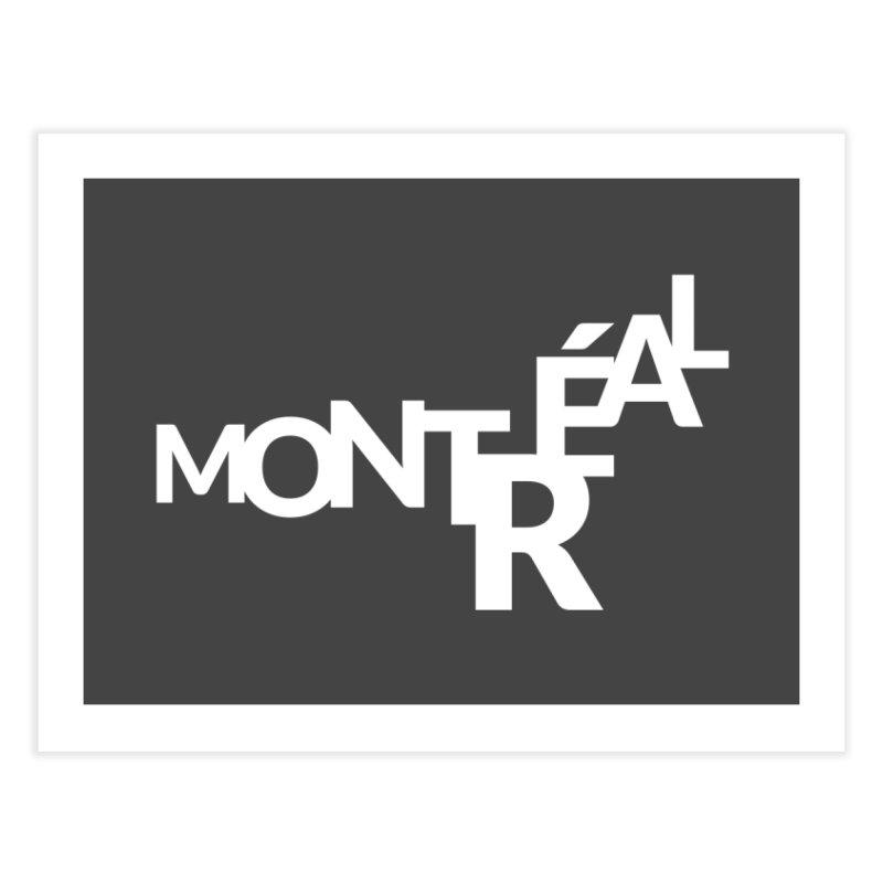 Montreal Island Logo Home Fine Art Print by STRIHS