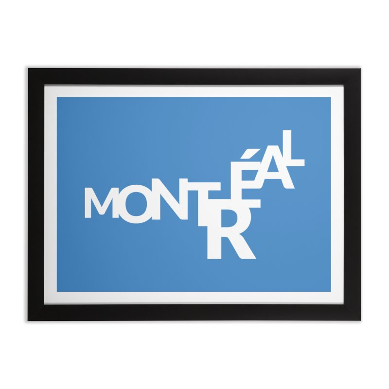 Montreal Island Logo Home Framed Fine Art Print by Shirts by Hal Gatewood