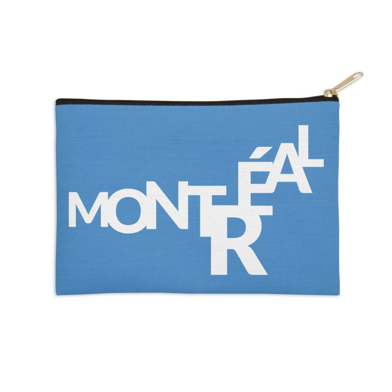 Montreal Island Logo Accessories Zip Pouch by Shirts by Hal Gatewood