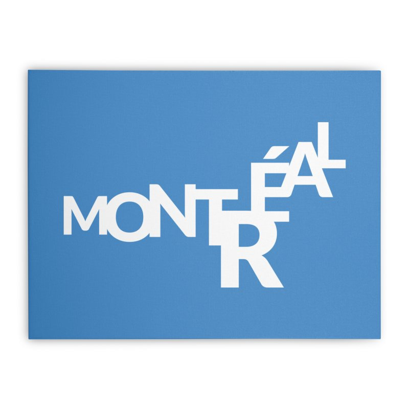 Montreal Island Logo Home Stretched Canvas by Shirts by Hal Gatewood