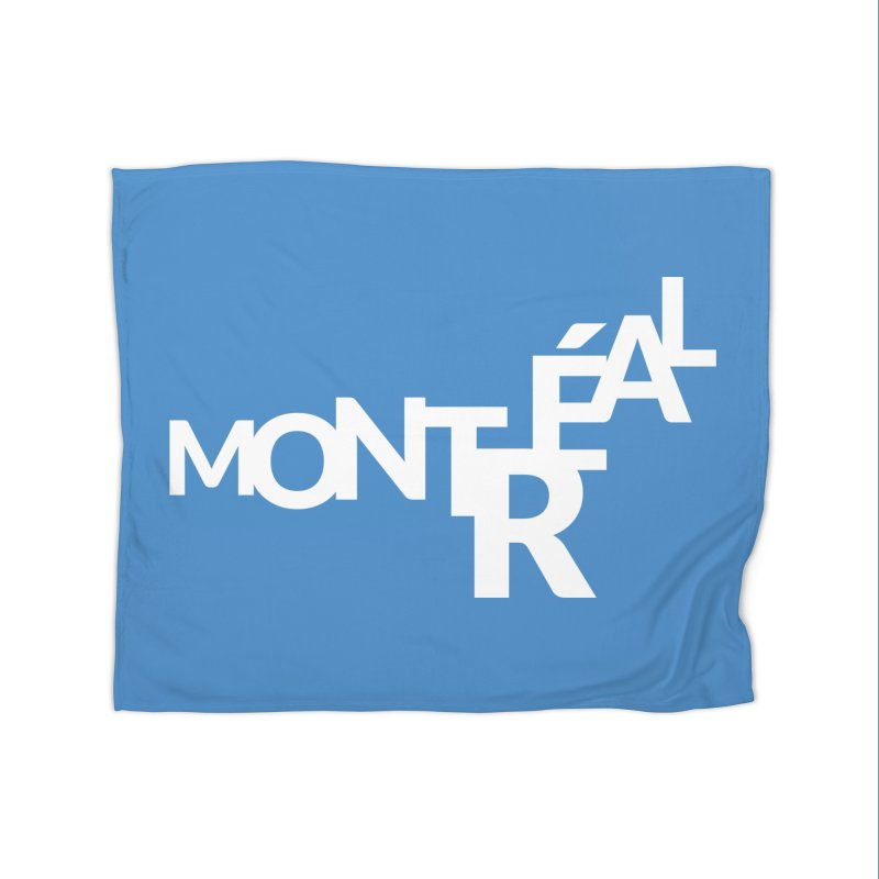 Montreal Island Logo Home Fleece Blanket Blanket by Shirts by Hal Gatewood