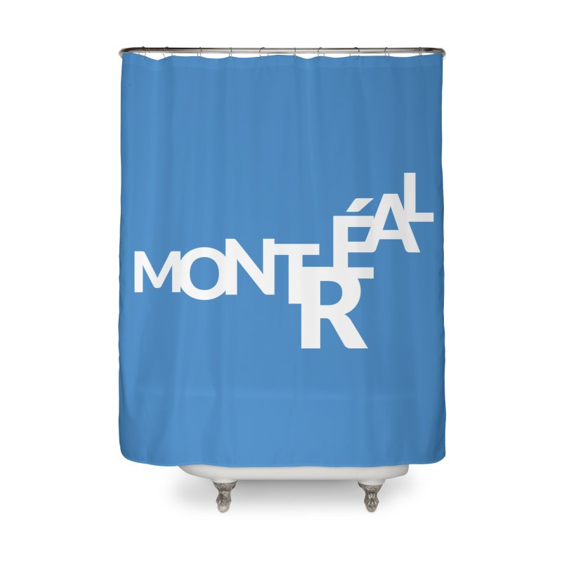 Montreal Island Logo Home Shower Curtain by Shirts by Hal Gatewood