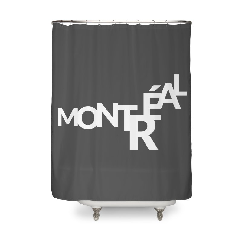 Montreal Island Logo Home Shower Curtain by STRIHS