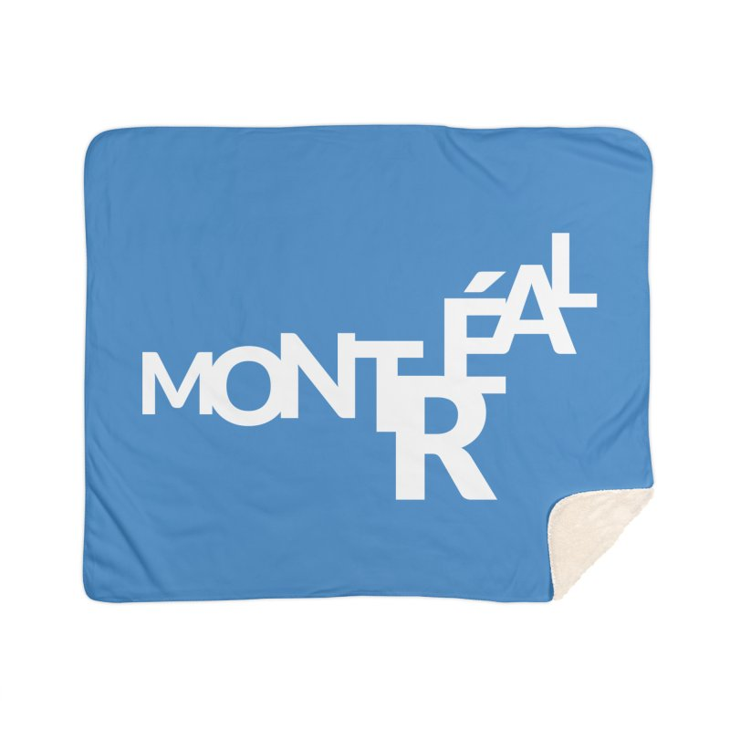 Montreal Island Logo Home Sherpa Blanket Blanket by Shirts by Hal Gatewood