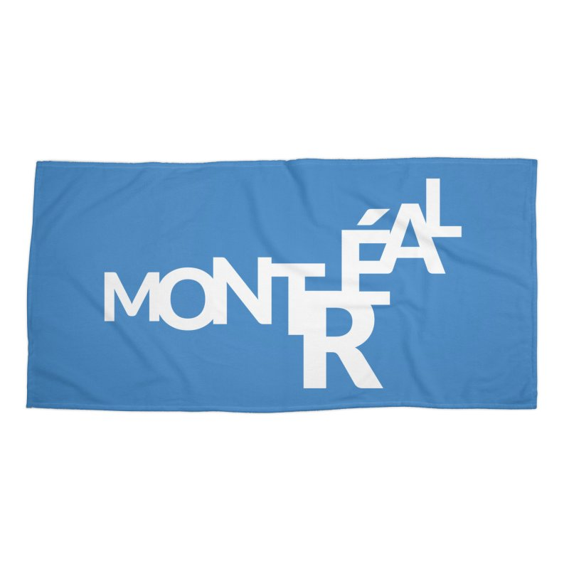 Montreal Island Logo Accessories Beach Towel by Shirts by Hal Gatewood