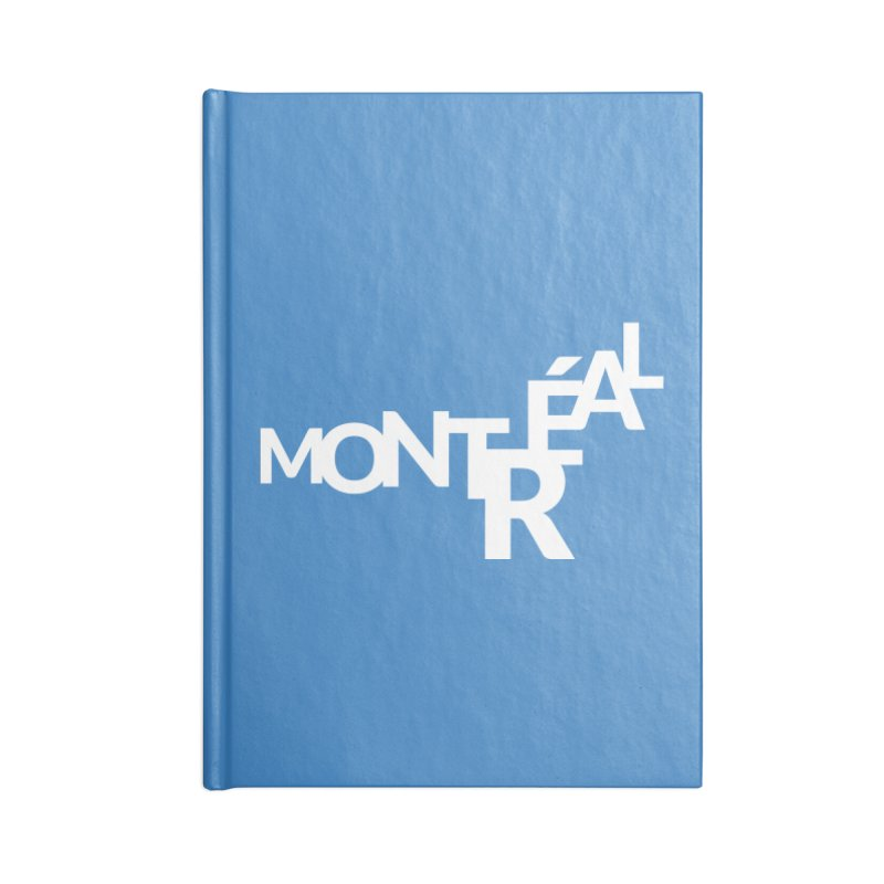 Montreal Island Logo Accessories Lined Journal Notebook by Shirts by Hal Gatewood