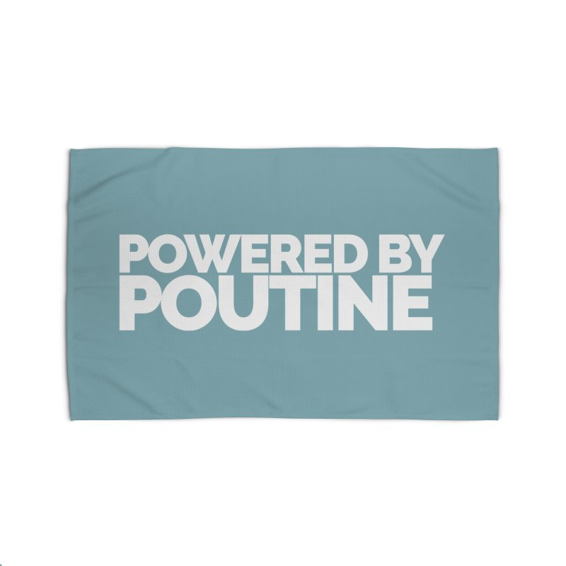 Powered by Poutine Home Rug by Shirts by Hal Gatewood