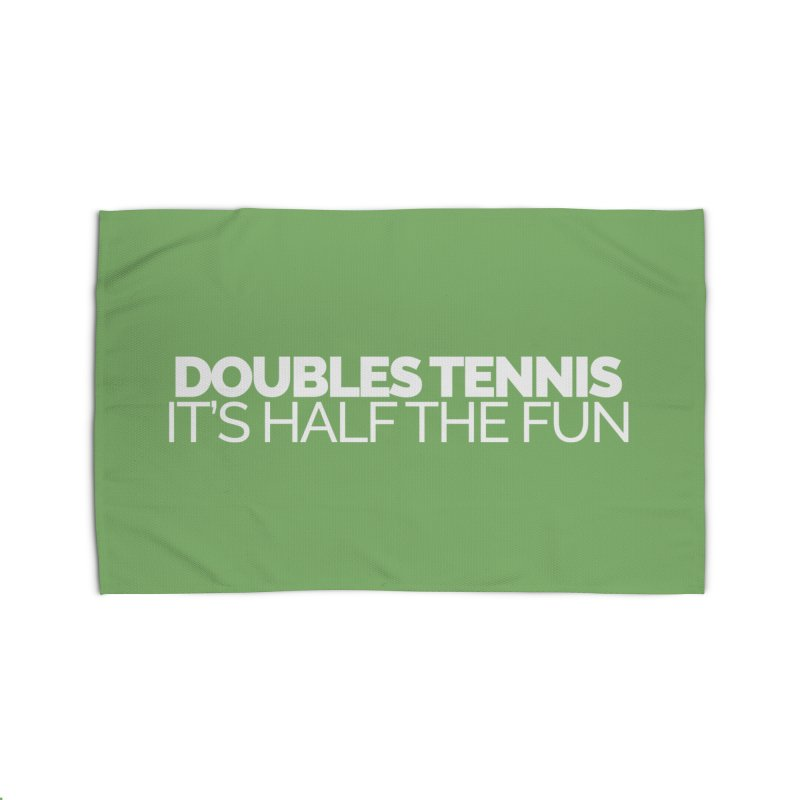 Doubles Tennis – It's Half the Fun Home Rug by Shirts by Hal Gatewood