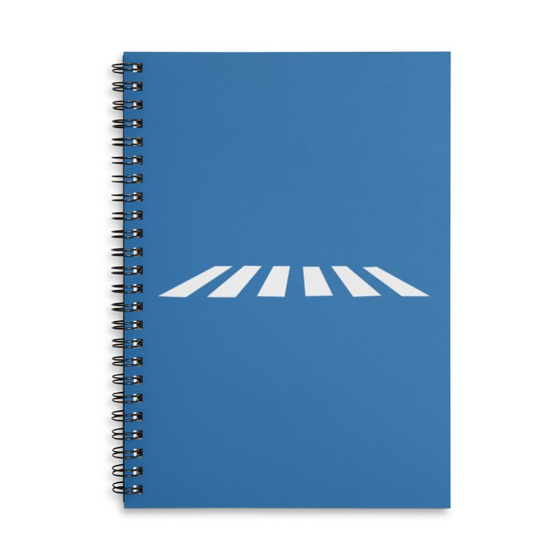 Abbey the Road - Sans Beatles Accessories Lined Spiral Notebook by Shirts by Hal Gatewood