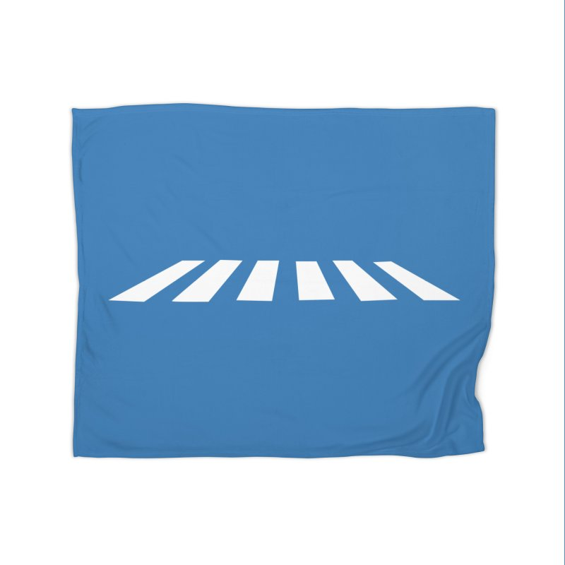 Abbey the Road - Sans Beatles Home Fleece Blanket Blanket by Shirts by Hal Gatewood