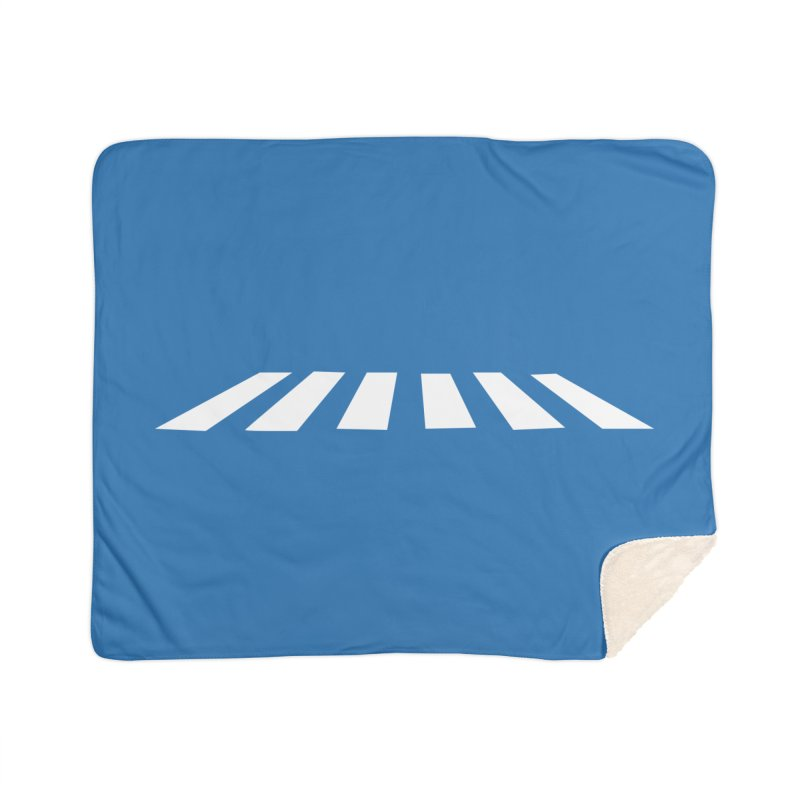 Abbey the Road - Sans Beatles Home Sherpa Blanket Blanket by Shirts by Hal Gatewood