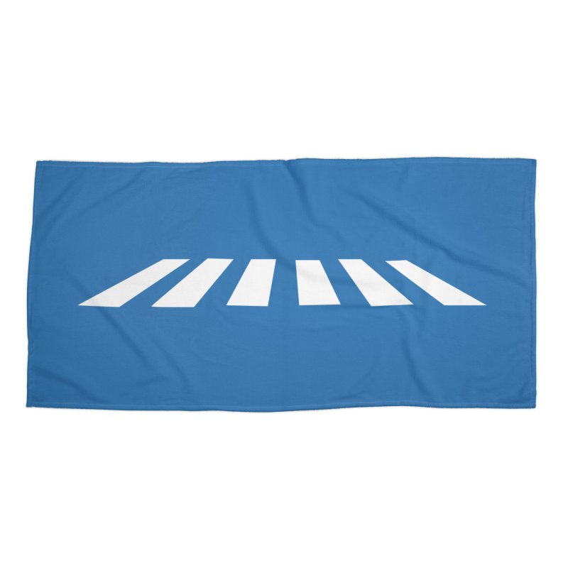 Abbey the Road - Sans Beatles Accessories Beach Towel by Shirts by Hal Gatewood