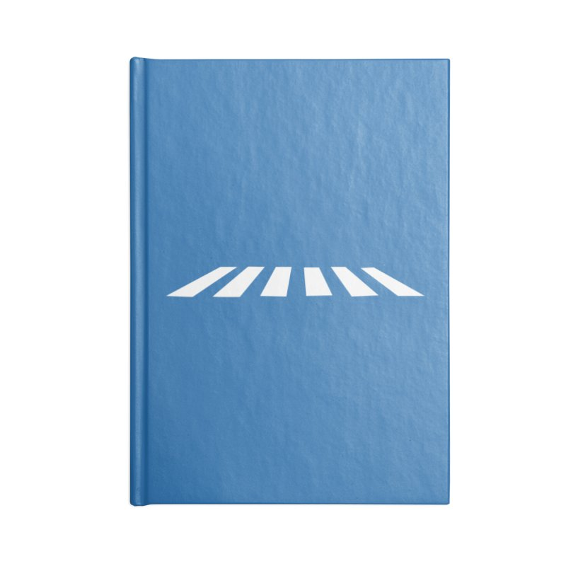 Abbey the Road - Sans Beatles Accessories Lined Journal Notebook by Shirts by Hal Gatewood