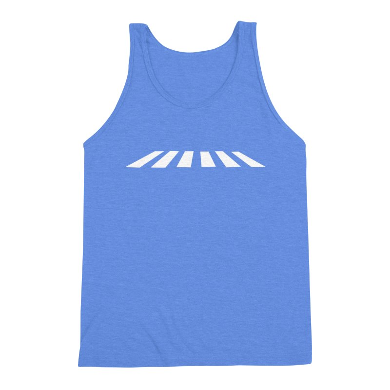Abbey the Road - Sans Beatles Men's Triblend Tank by Shirts by Hal Gatewood