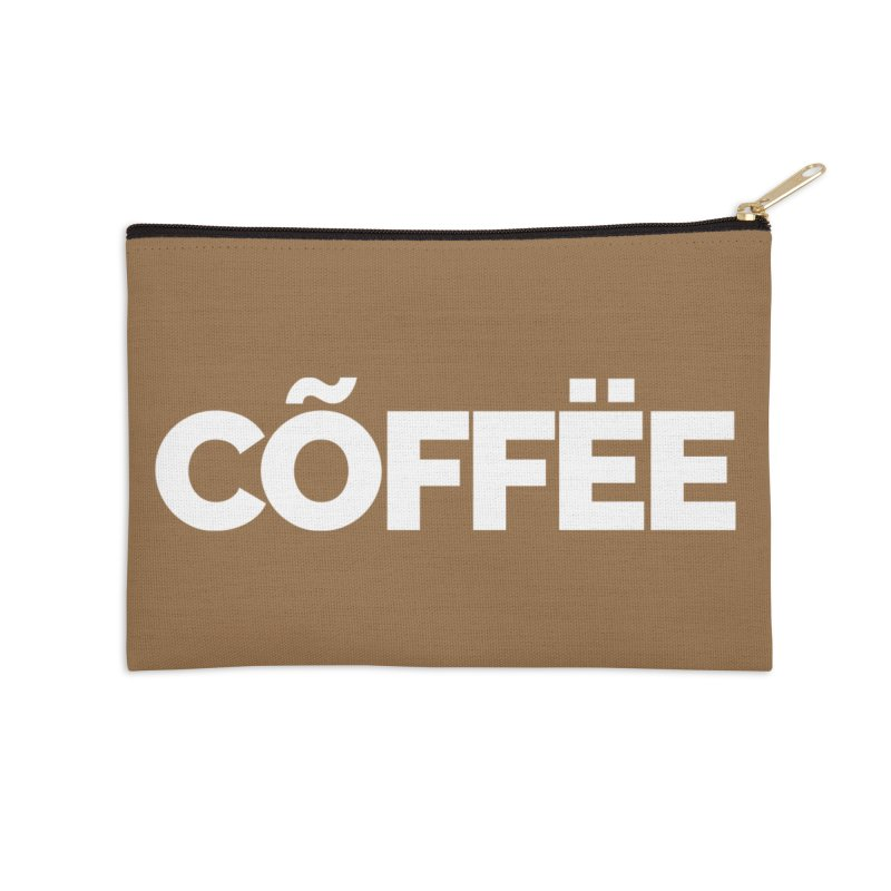 Authentic Cõffëe Accessories Zip Pouch by Shirts by Hal Gatewood