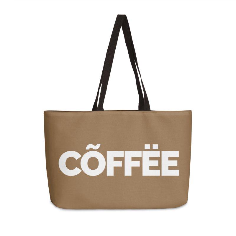 Authentic Cõffëe Accessories Weekender Bag Bag by Shirts by Hal Gatewood