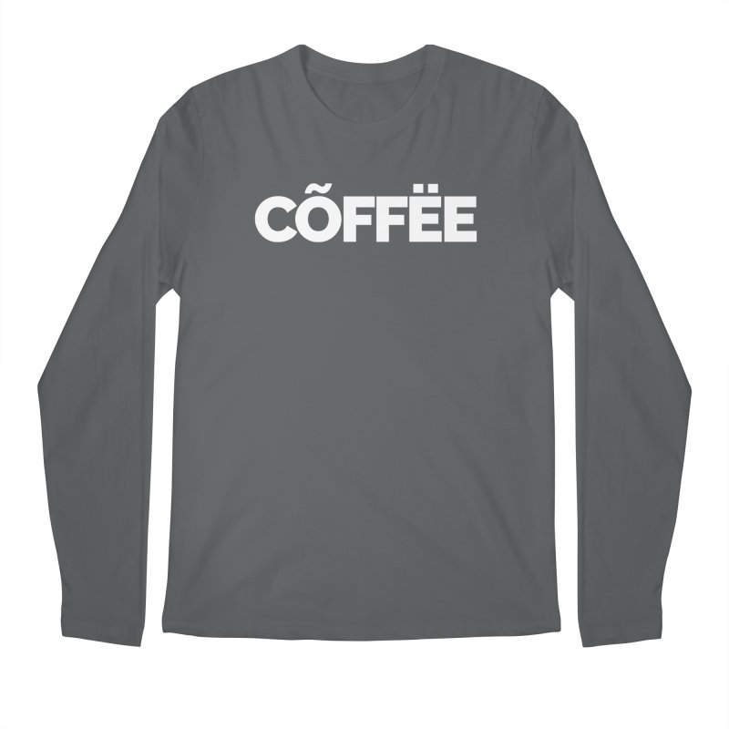 Authentic Cõffëe Men's Regular Longsleeve T-Shirt by Shirts by Hal Gatewood