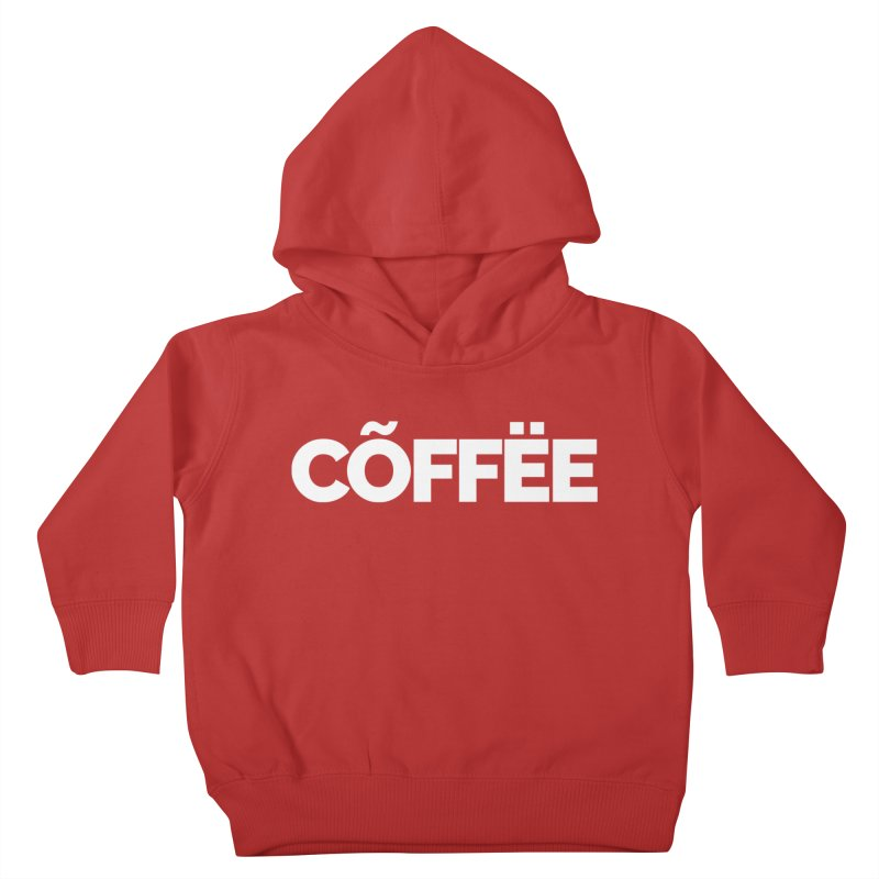 Authentic Cõffëe Kids Toddler Pullover Hoody by Shirts by Hal Gatewood