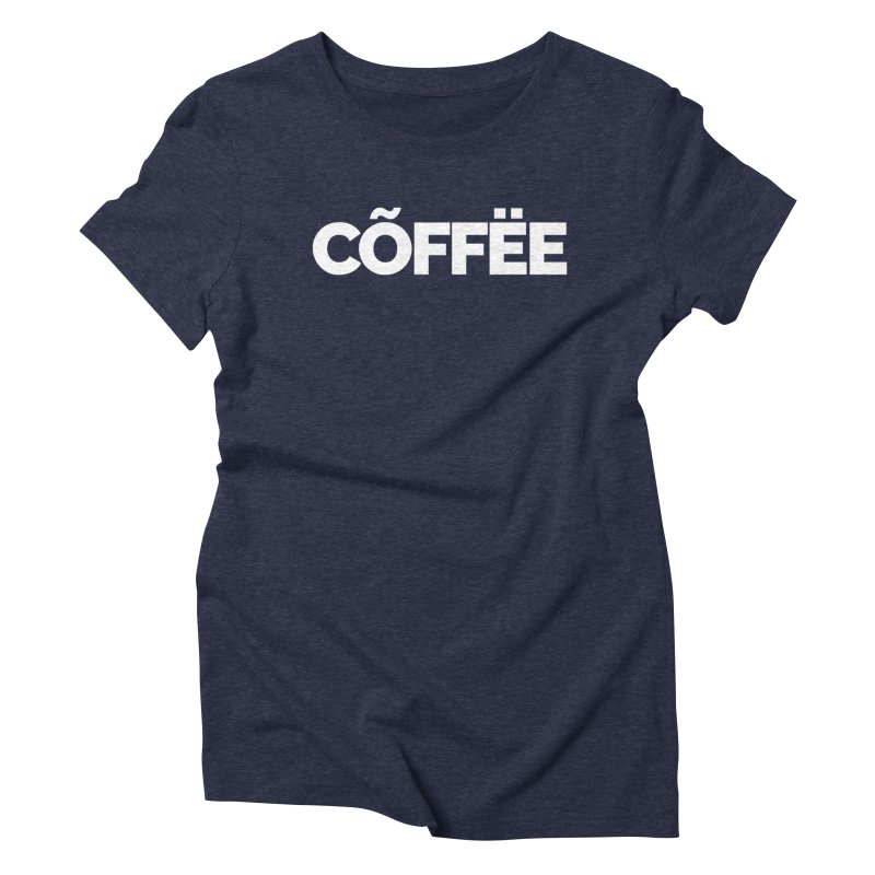 Authentic Cõffëe Women's Triblend T-Shirt by Shirts by Hal Gatewood