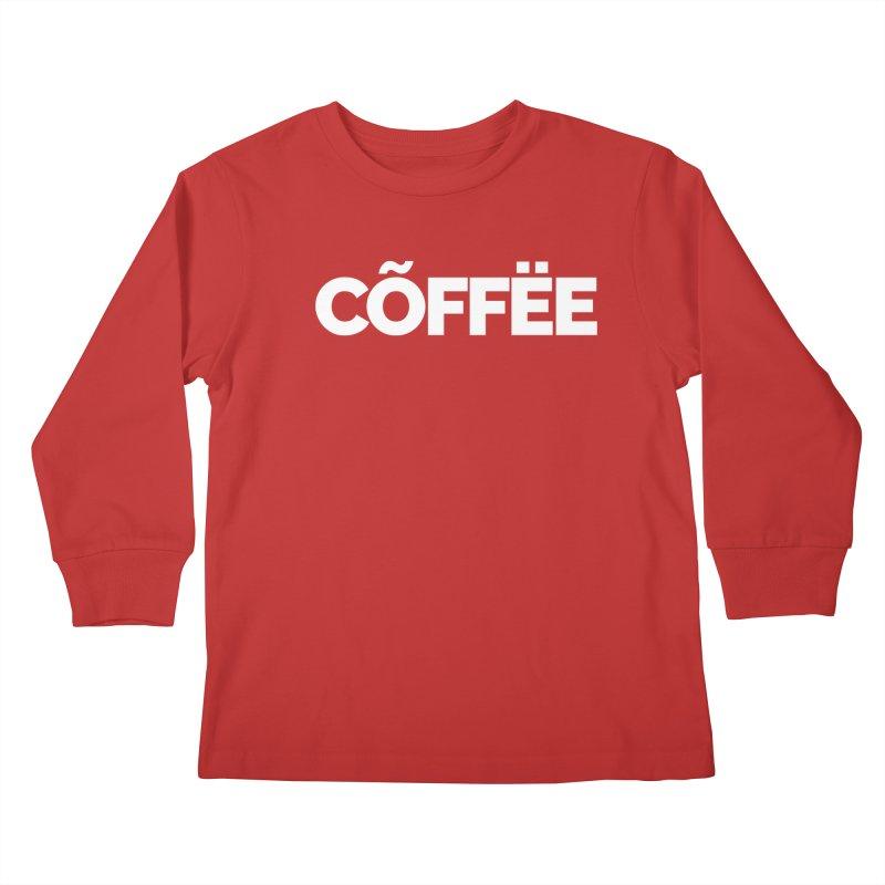 Authentic Cõffëe Kids Longsleeve T-Shirt by Shirts by Hal Gatewood