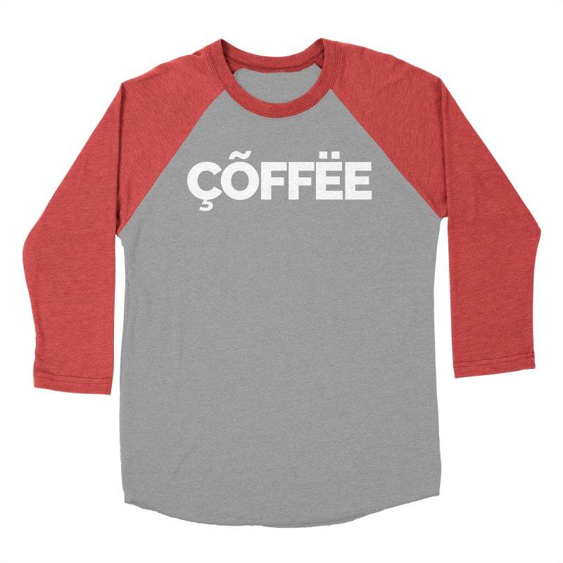 Authentic Cõffëe Women's Baseball Triblend Longsleeve T-Shirt by Shirts by Hal Gatewood