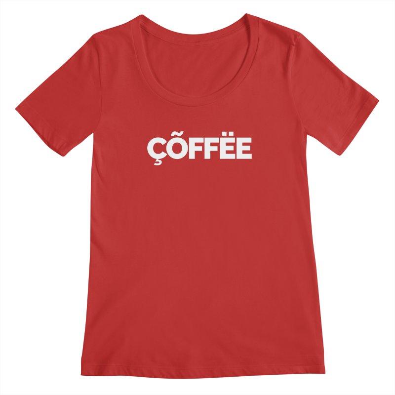 Authentic Cõffëe Women's Regular Scoop Neck by Shirts by Hal Gatewood