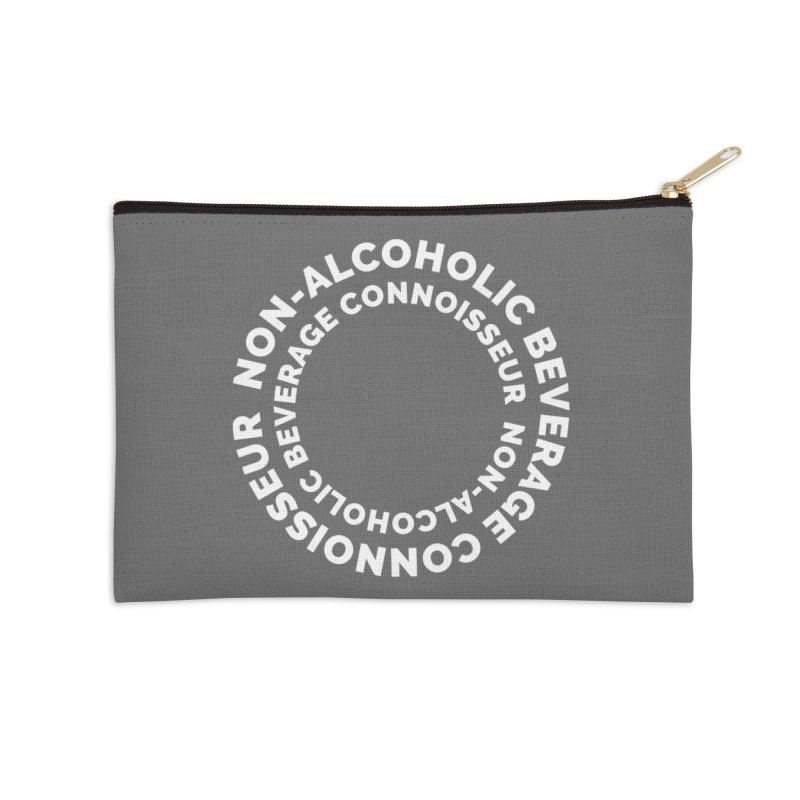 Non-Alcoholic Beverage Connoisseur Accessories Zip Pouch by Shirts by Hal Gatewood
