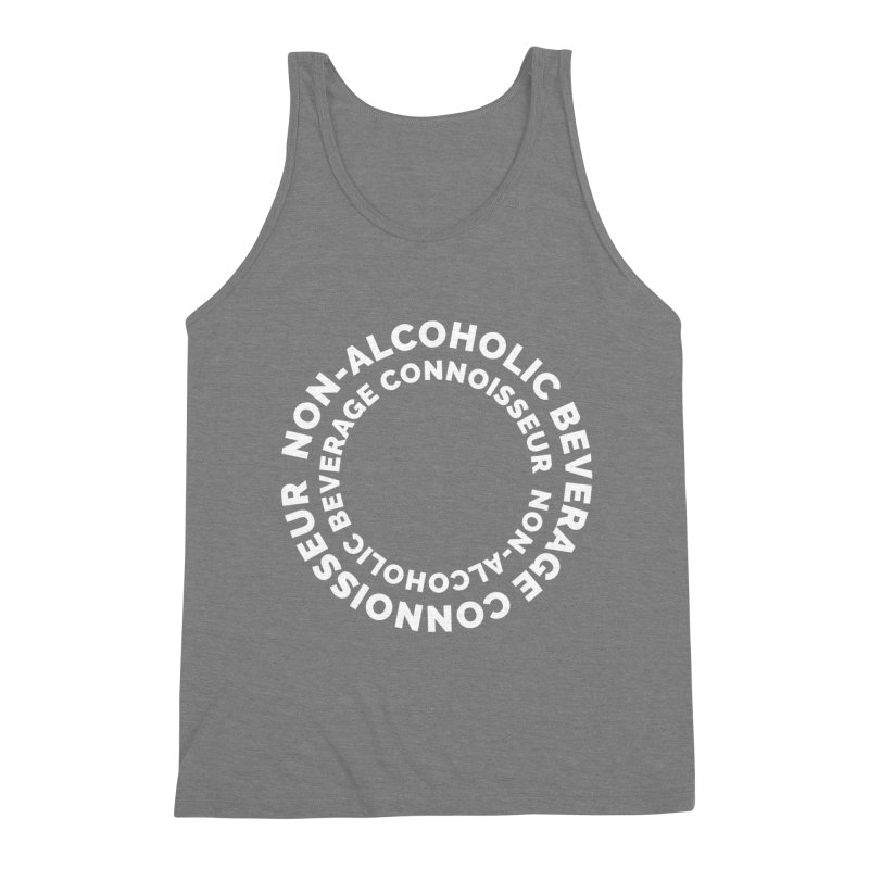 Non-Alcoholic Beverage Connoisseur Men's Triblend Tank by Shirts by Hal Gatewood