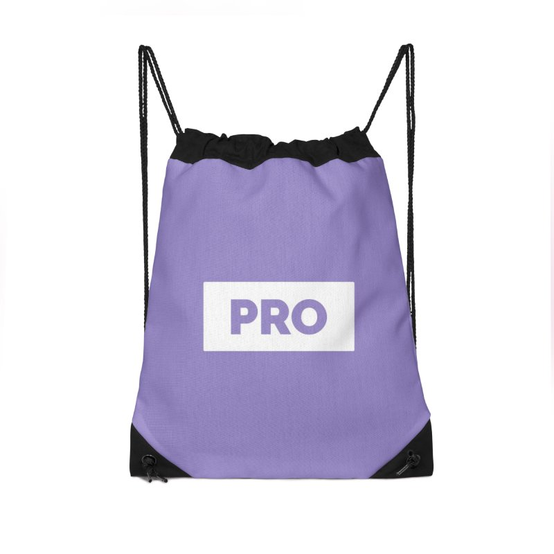 Like a PRO Accessories Drawstring Bag Bag by Shirts by Hal Gatewood